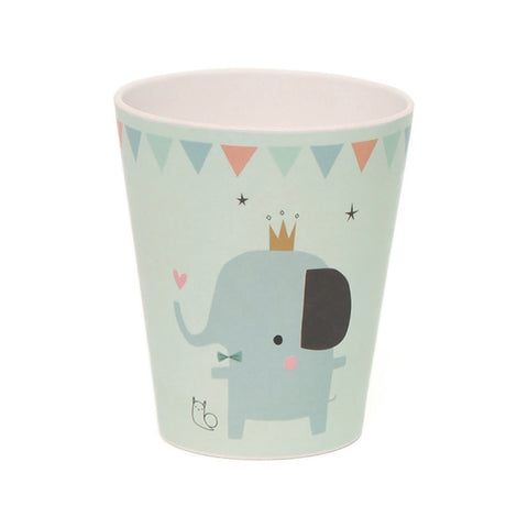 NEW * Bamboo cup Elephant, mint - Little Cube