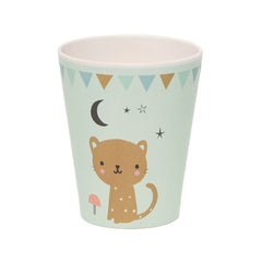 Bamboo cup Leopard, mint by Little Cube for Petit Monkey