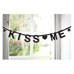 black make your own letter banner by Omm Design