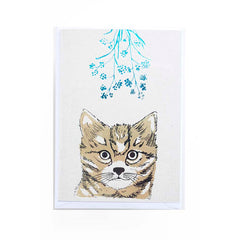 Gorgeous card with cat print and some flowers by Kim Jenkins of Lucky Bird.