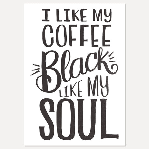 Black Coffee postcard - Matthew Taylor Wilson
