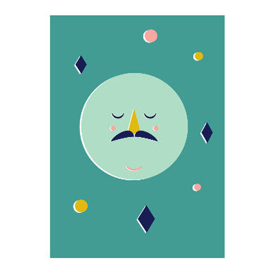 Confetti Moon print by Jess Long for Omm Design