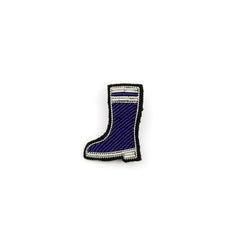 Hand embroidered Rubber Boot brooch by Macon & Lesquoy