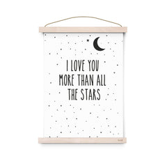 I love you more than all the stars A3 print by Eef Lillemor