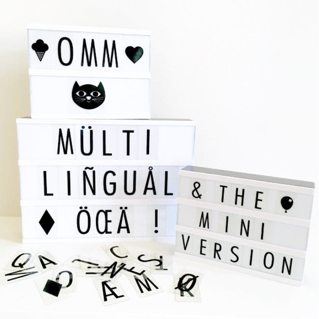 A4 and A5 ligh boxes by Ingela P Arrhenius for Omm Design