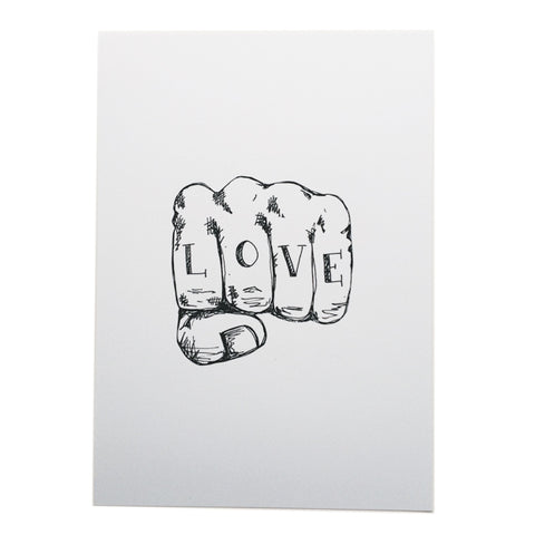 Love tattoo A4 print by Young Double * Naked Lunge