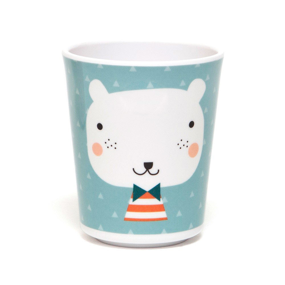 Melamine cup Bear by Haciendo el Indio for Petit Monkey