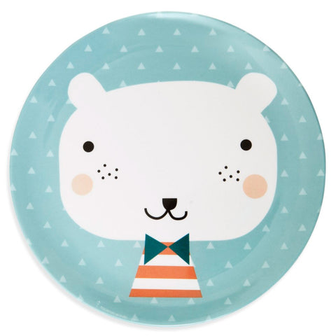 Melamine plate Bear by Haciendo el Indio for Petit Monkey