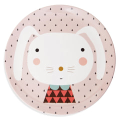 Melamine plate Rabbit by Haciendo el Indio for Petit Monkey