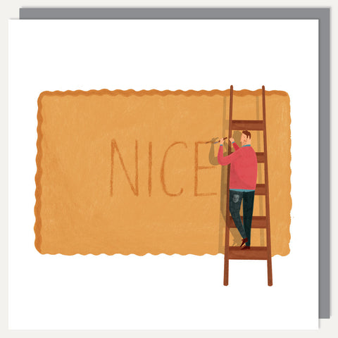 Nice Biscuit greeting card - David Biskup