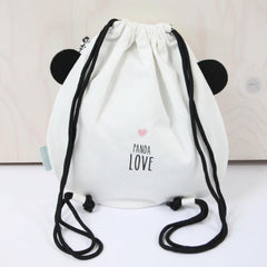 Drawstring bag Panda Love by Eef Lillemor