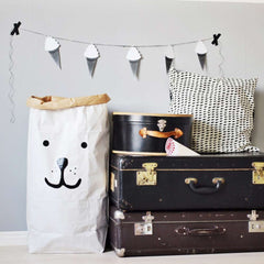 Paper storage bag Bear Face by Tellkiddo