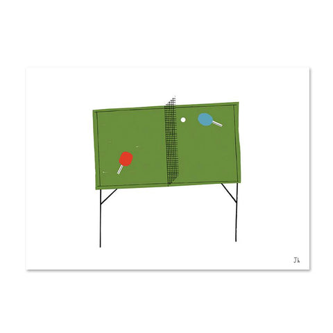 limited edition Ping Pong print  by Jake Hollings for Fine Little Day