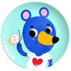 Melamine plate Blue Bear by Helen Dardik for Petit Monkey