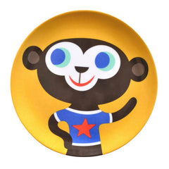 Melamine plate Monkey by Helen Dardik for Petit Monkey