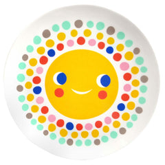 Melamine plate Sun by Helen Dardik for Petit Monkey