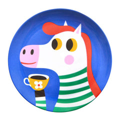 Melamine plate Zebra by Helen Dardik for Petit Monkey