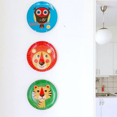 Melamine plates by Ingela P Arrhenius as decoration on the wall in the house of @idas.hus68