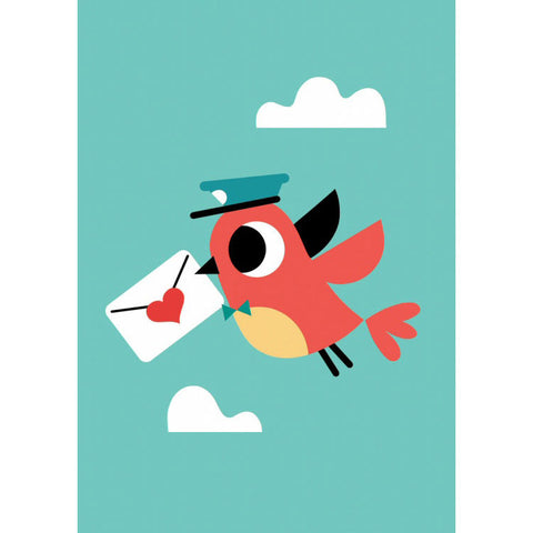 Love letter postcard or mini print by Tiago Americo for Petit Monkey