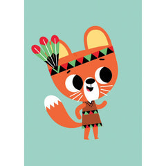 Squirrel postcard or mini print by Tiago Americo for Petit Monkey