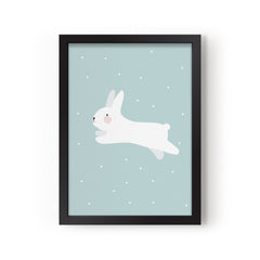 White rabbit A3 print by Eef Lillemor