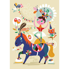 Pretty Little Rider print by Helen Dardik for Petit Monkey