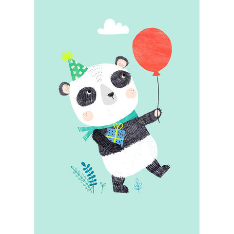 Panda postcard or mini print by Rebecca Jones for Petit Monkey