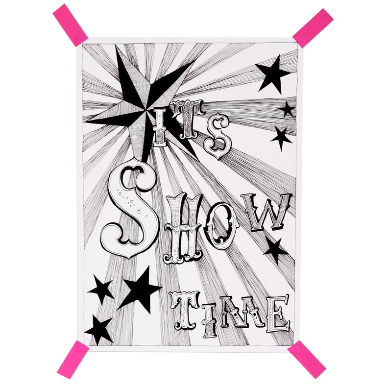 It's Showtime! A4 print by Young Double * Naked Lunge