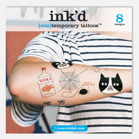 Ink'd temporary tattoos - Gemma Correll