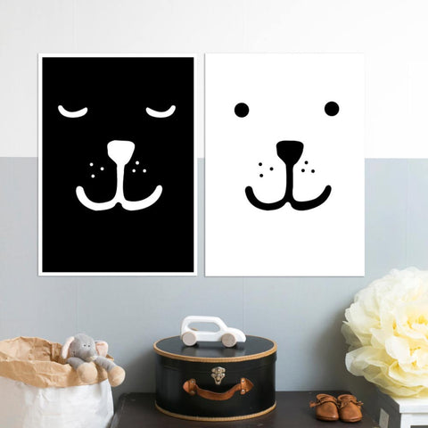 Animal face prints (A3) - Bear or Sleepy Bear