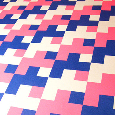 Graphic gift wrap pink/blue by Grafika for 1973