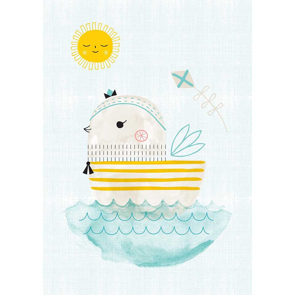 Zeppe A3 print by Suzy Ultman for Petit Monkey