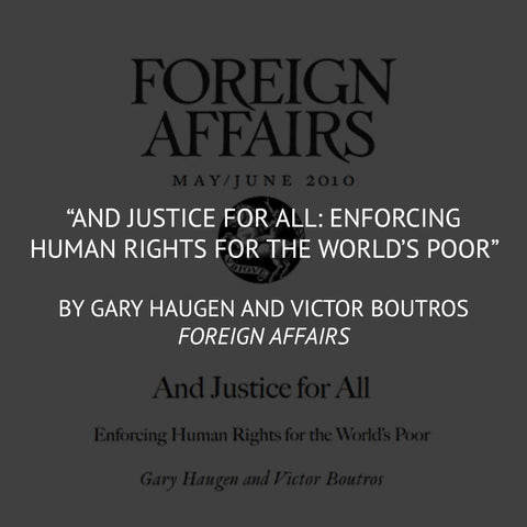 """And Justice For All"" by Gary Haugen and Victor Boutros"