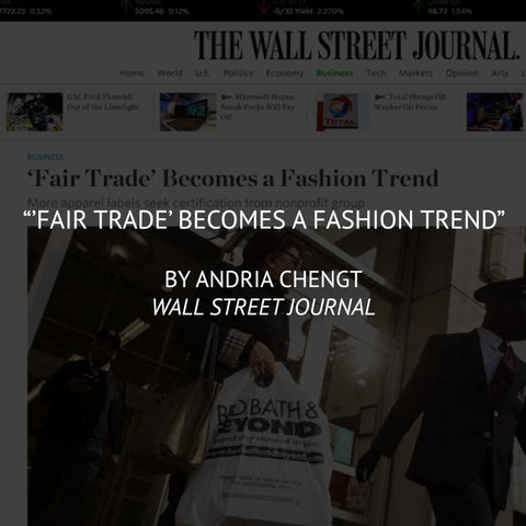 """'Fair Trade' becomes a Fashion Trend"" by Andria Chengt"