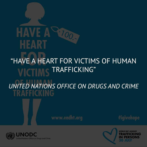 """Have a Heart for Victims of Human Trafficking"" from the United Nations Office on Drugs and Crime"