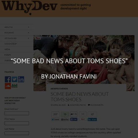 Some Bad News about TOMS Shoes