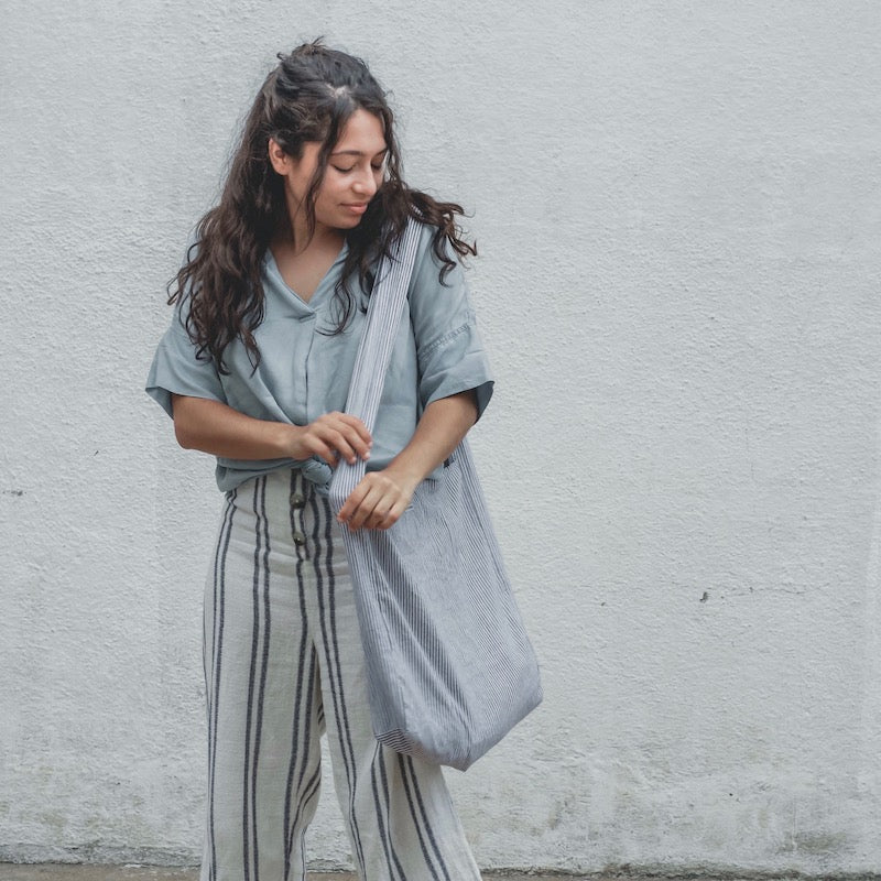 BOYFRIEND SHIRT BAG | TICKING STRIPE