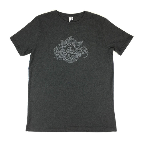 organic cotton & recycled polyester T-shirt. made free. cause gear. henna. black. made by free woman.