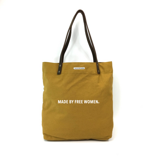 DAY TOTE MUSTARD MADE BY FREE WOMEN