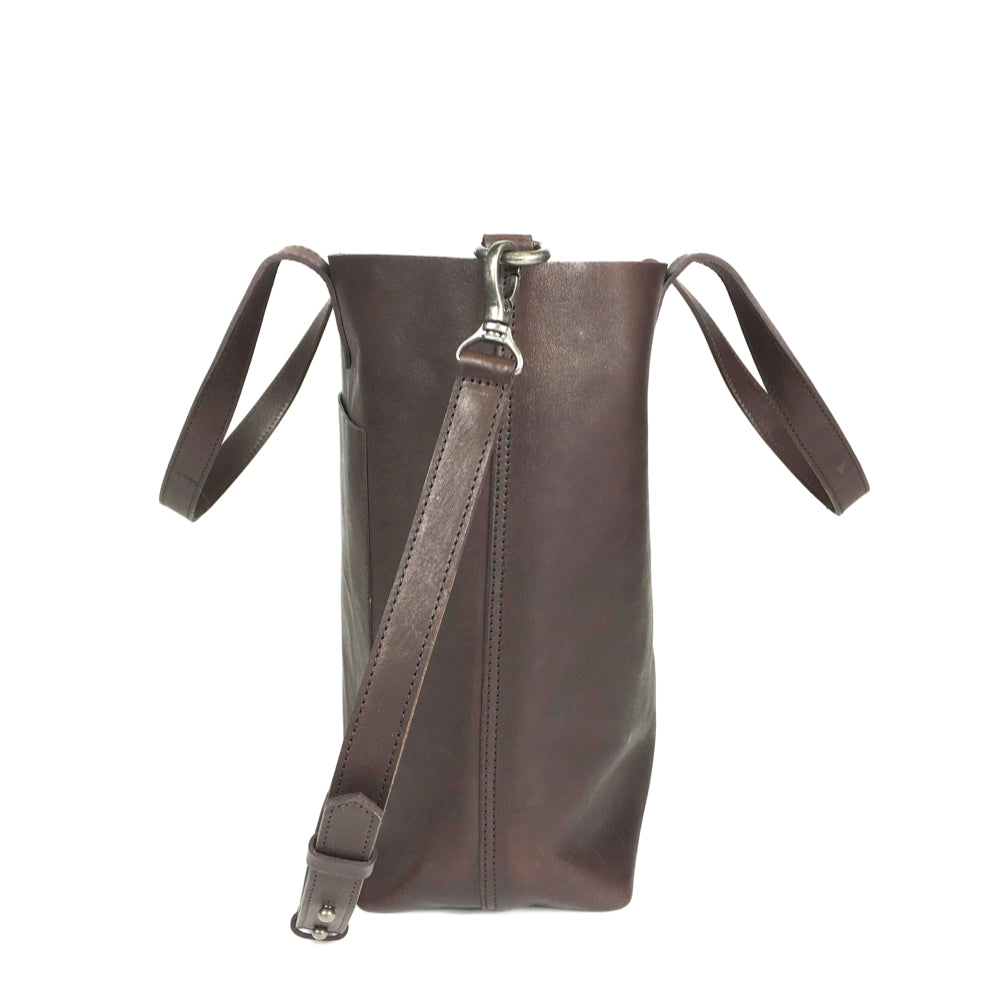 DAY TOTE LEATHER MEDIUM BROWN