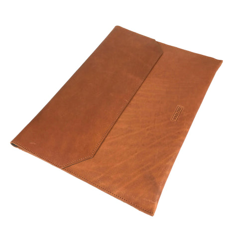 LAPTOP CASE LEATHER BROWN