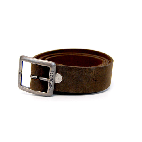 handmade leather belts. natural leather. brown.