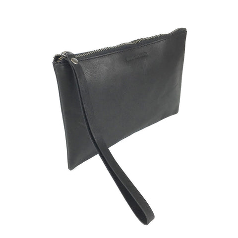 LEATHER PORTFOLIO BLACK