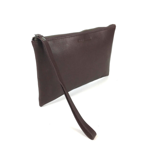 LEATHER CLUTCH BLACK