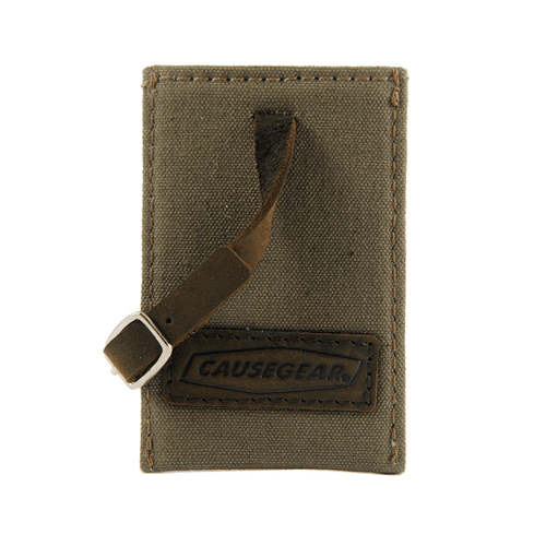 Taupe Canvas Luggage Tag