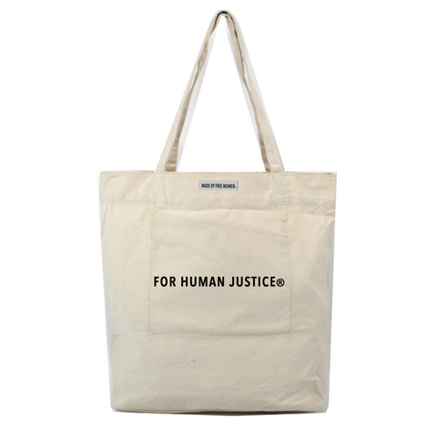 WOMENS CHARCOAL FOR HUMAN JUSTICE TAUPE HENNA