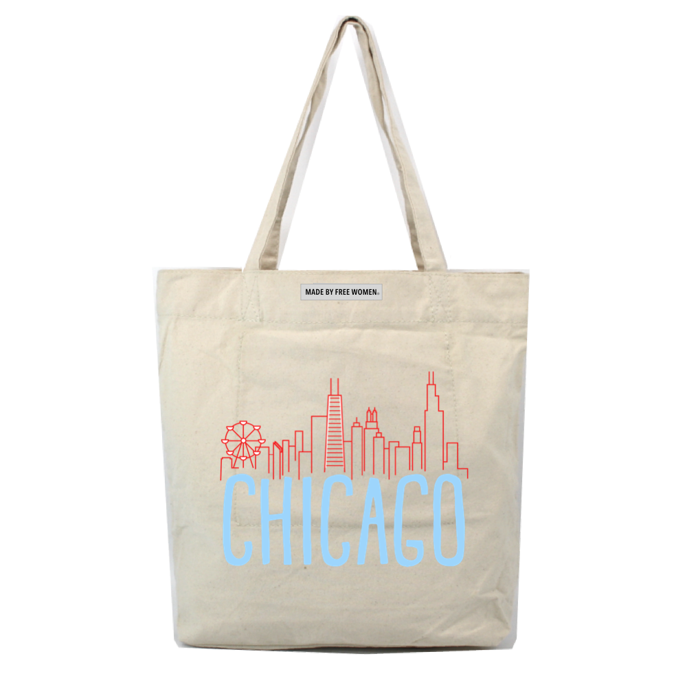 MARKET TOTE CHICAGO SKYLINE