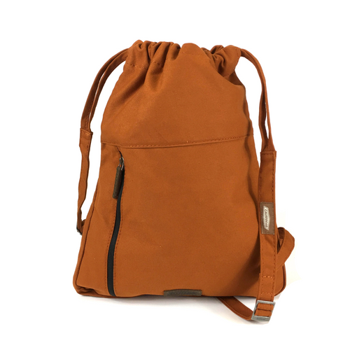 sports backpacks for school. small sport backpacks. fashionable gym bags. canvas gym backpack. canvas gym tote. fashionable gym bags. 100recycled backpack. socially responsible backpacks. backpacks made from recycled materials. sustainable travel bag. orange