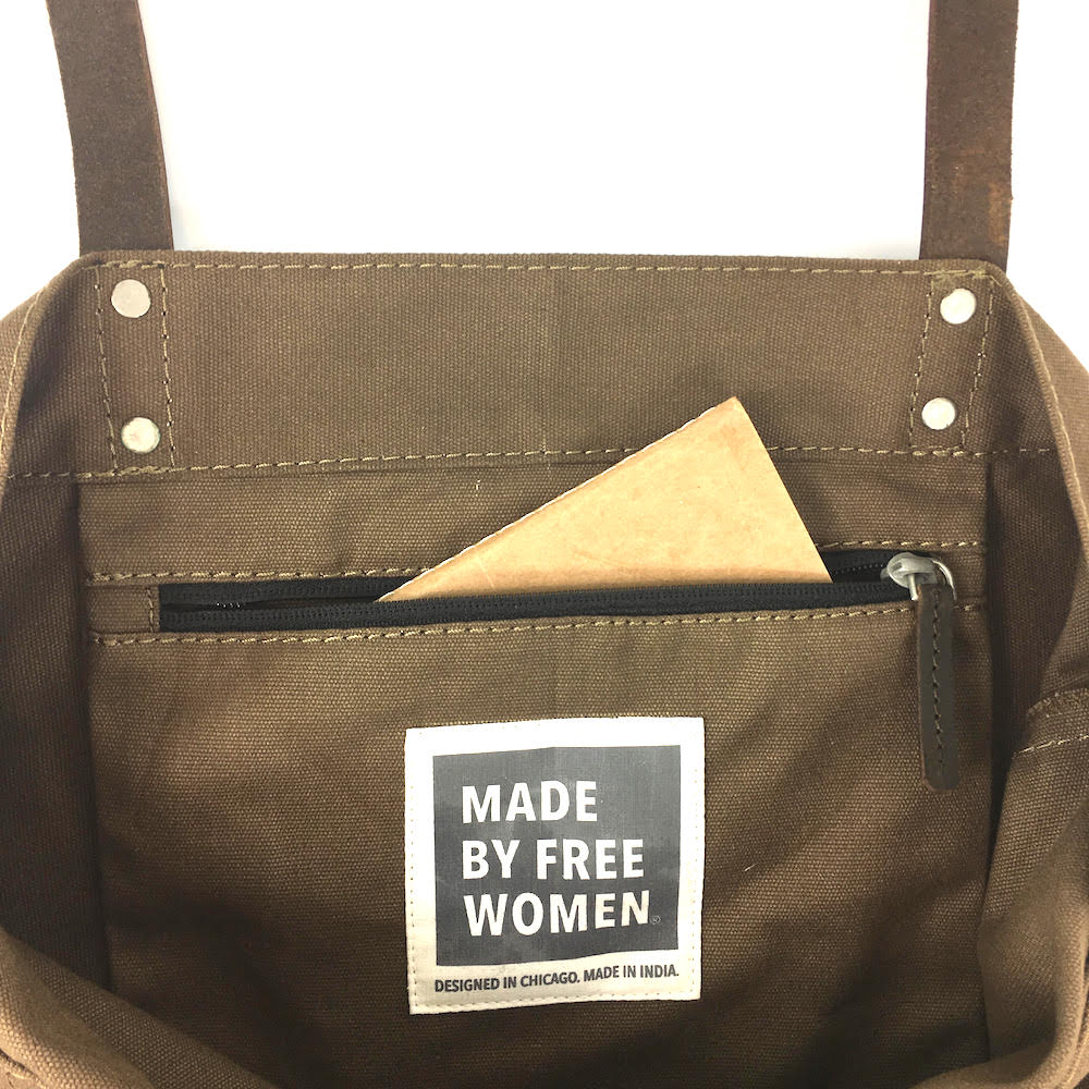 day tote. made by free woman. tote bags canvas. hand made. justice. tote bags wholesale. tote bags for school. tote bag with zipper. high quality tote bags. canvas tote bags with zipper. Eco bags. taupe