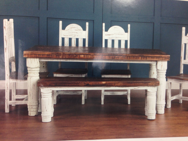 BF2268 Santa Rita Rustic Table with 4 Chairs